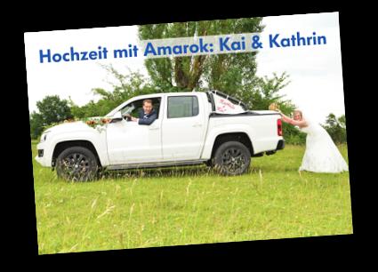 Hochzeit mit Amarok: Kai & Kathrin - Autohaus Holzer, Stuttgart-Korntal